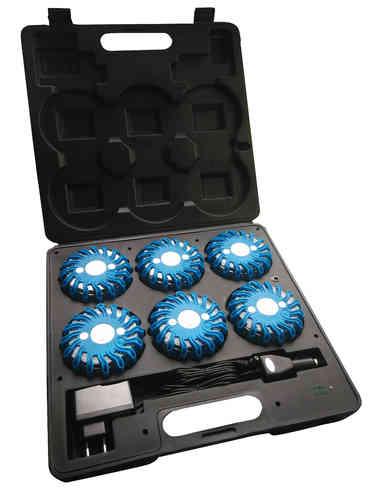 Malette de 6 Balises à leds LEDWarning Bleue Produits de